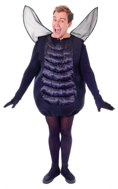 Adults Halloween Fly Costume Trick Or Treat Fancy Dress Outfit